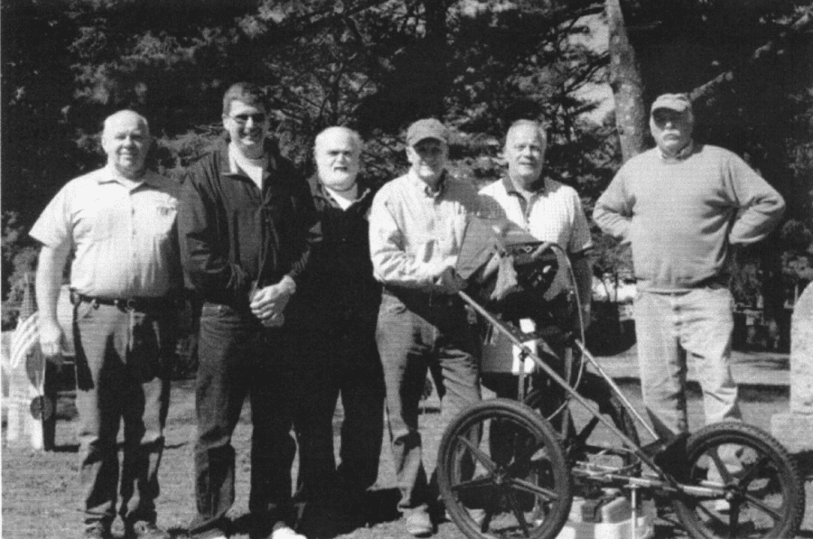GPR demonstration - Nemasket Hill cemetery